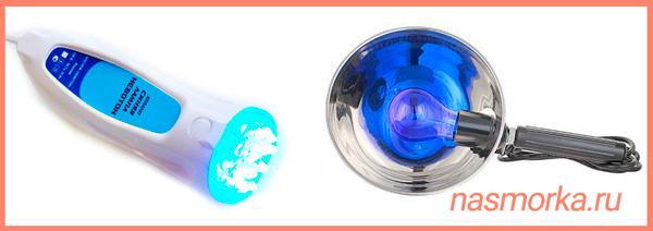 Синяя лампа для прогревания носа при насморке – как можно греть