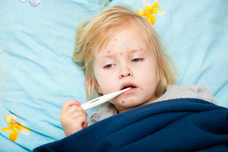 У ребенка горло в красных точках – сыпь и пятна у детей