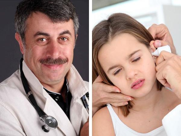 Отит у детей – симптомы и лечение уха у ребенка по методикам Комаровского