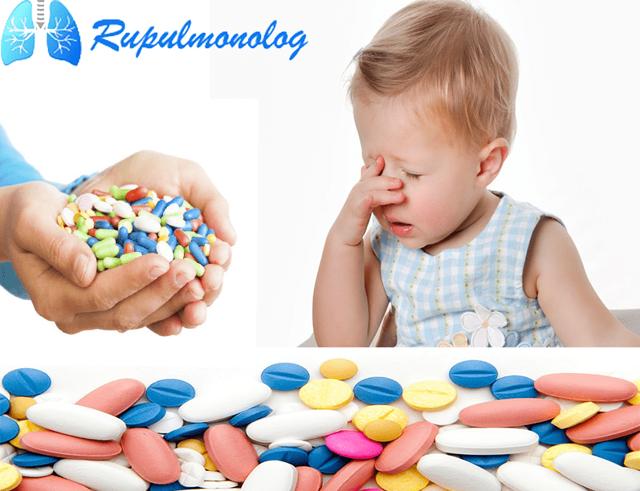 Антибиотики для детей при кашле – список препаратов для ребенка
