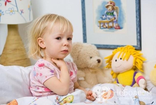 Симптомы и признаки фарингита у детей