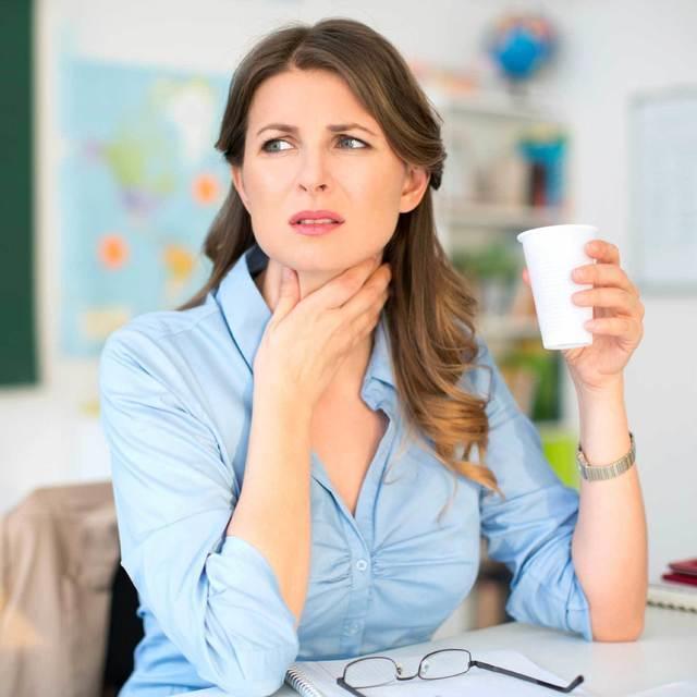 Процедуры при лечении горла