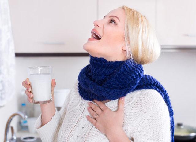 Народные средства при лечении горла