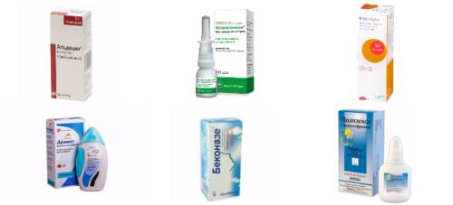 Гормональные капли в нос - названия и применение препаратов