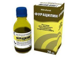 Фурацилиновый спирт для ушей - инструкция по применению