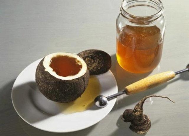 Зеленая редька с медом от кашля – рецепт приготовления