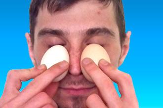 Как греть нос яйцом - прогревание при насморке