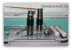 Прижигание миндалин и гланд серебром или жидким азотом